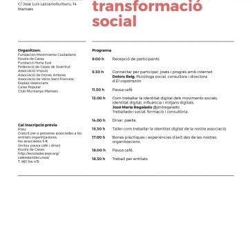 """Hem participat en la jornada """"La comunicació, una eina per a la transformació social"""""""
