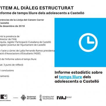 Informe estadístic sobre el temps lliure dels adolescents a Castelló